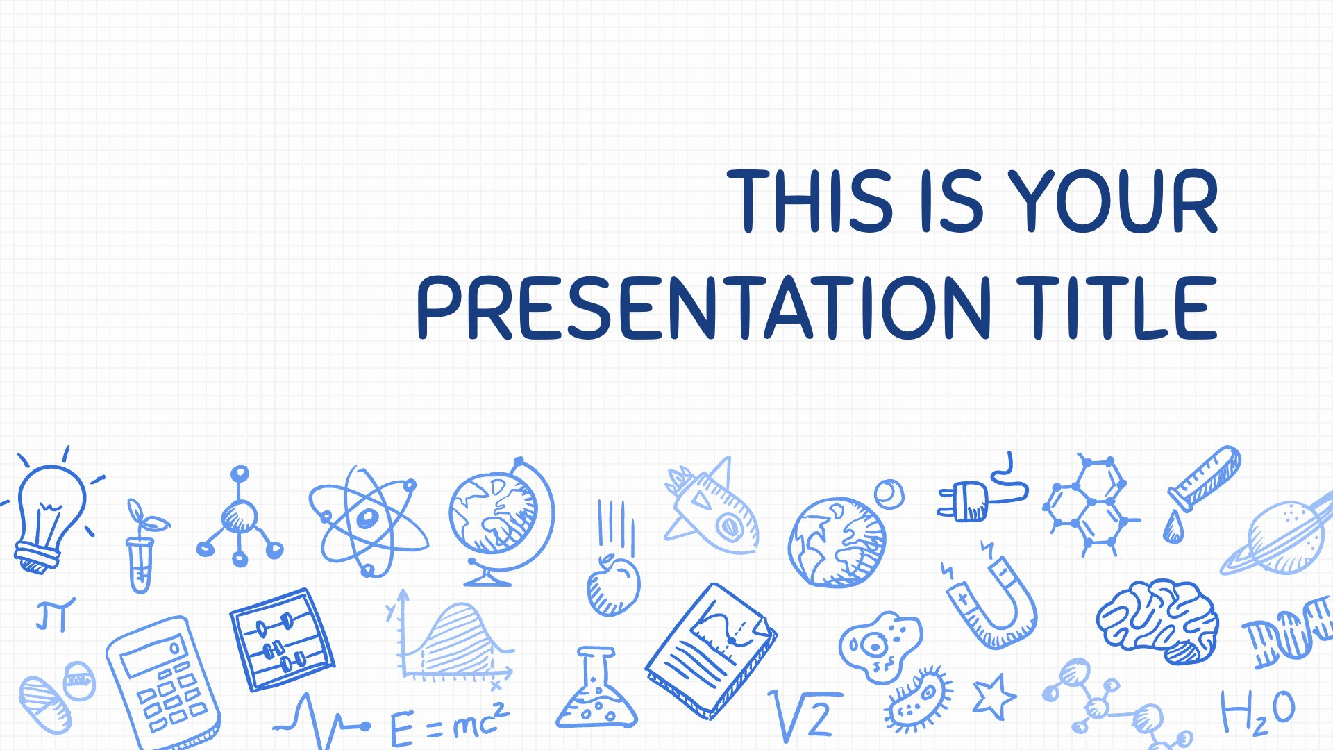 Science Power Point Template Inspirational Free Playful Powerpoint Template or Google Slides theme with Science Design