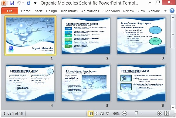 Science Power Point Template Unique organic Molecules Scientific Powerpoint Template