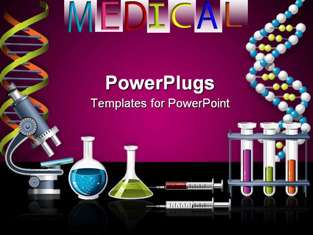 Science Power Point Templates Awesome Powerpoint Template Lab Equipment with Microscope Vials Filled with Liquids Syringes Test