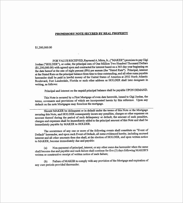 Secured Promissory Note Template Luxury How to Sell A Note On Real Estate