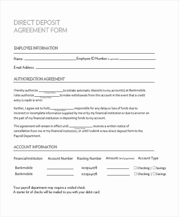 Security Deposit Agreement form Awesome Free 11 Sample Deposit Agreement forms