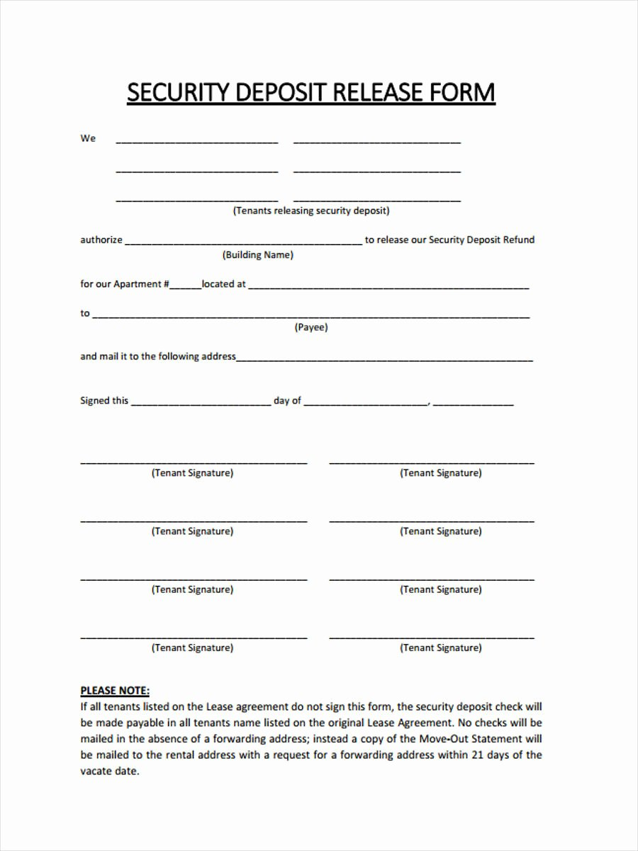 Security Deposit Agreement form Best Of Free 6 Rental Deposit forms In Samples Examples formats