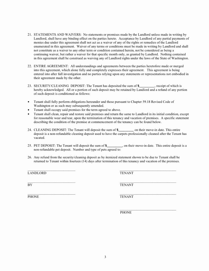 Security Deposit Agreement form Elegant Pet Agreement forms for Landlords Best Security Deposit