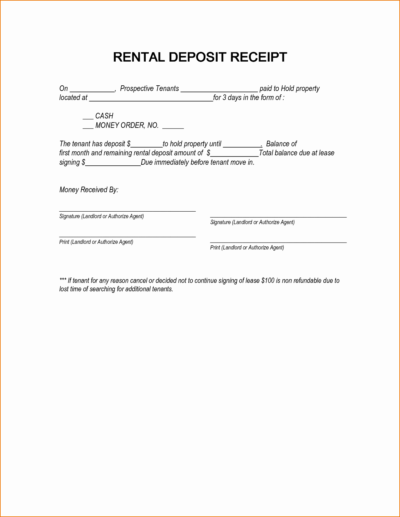 Security Deposit Agreement form New 18 Down Payment and Deposit Receipt Template for Your