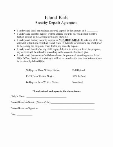 Security Deposit Agreement format Fresh 11 Security Deposit Agreement Examples Pdf Word