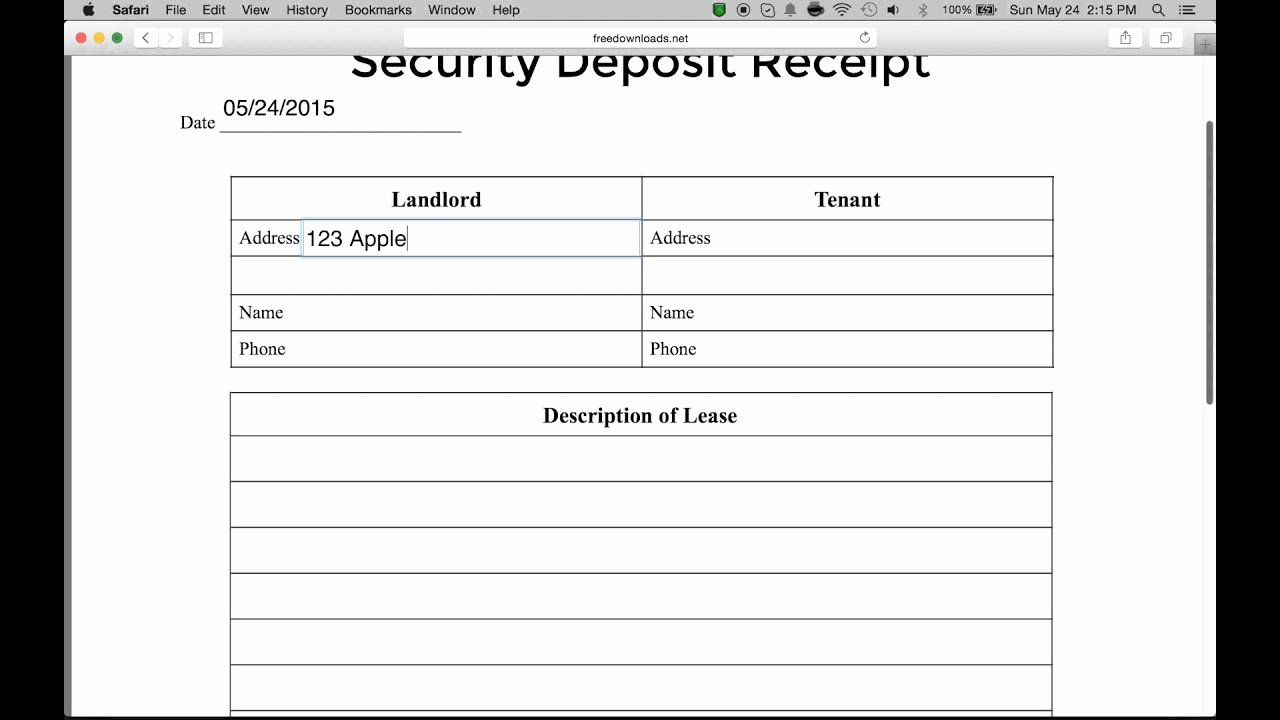 Security Deposit Return Receipt Beautiful How to Write A Security Deposit Receipt form Pdf