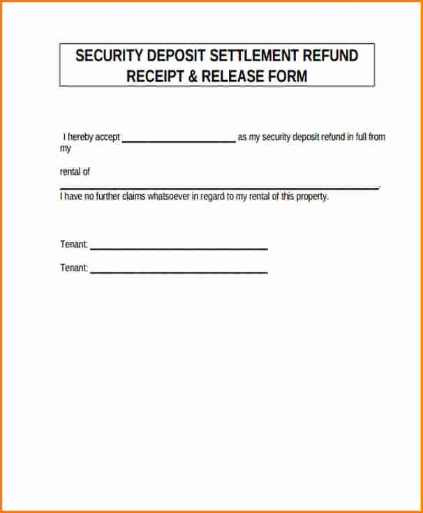 Security Deposit Return Receipt Luxury 5 Security Deposit Refund Receipt