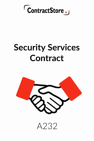 Security Guard Contracts Templates Awesome Security Pany Contracts