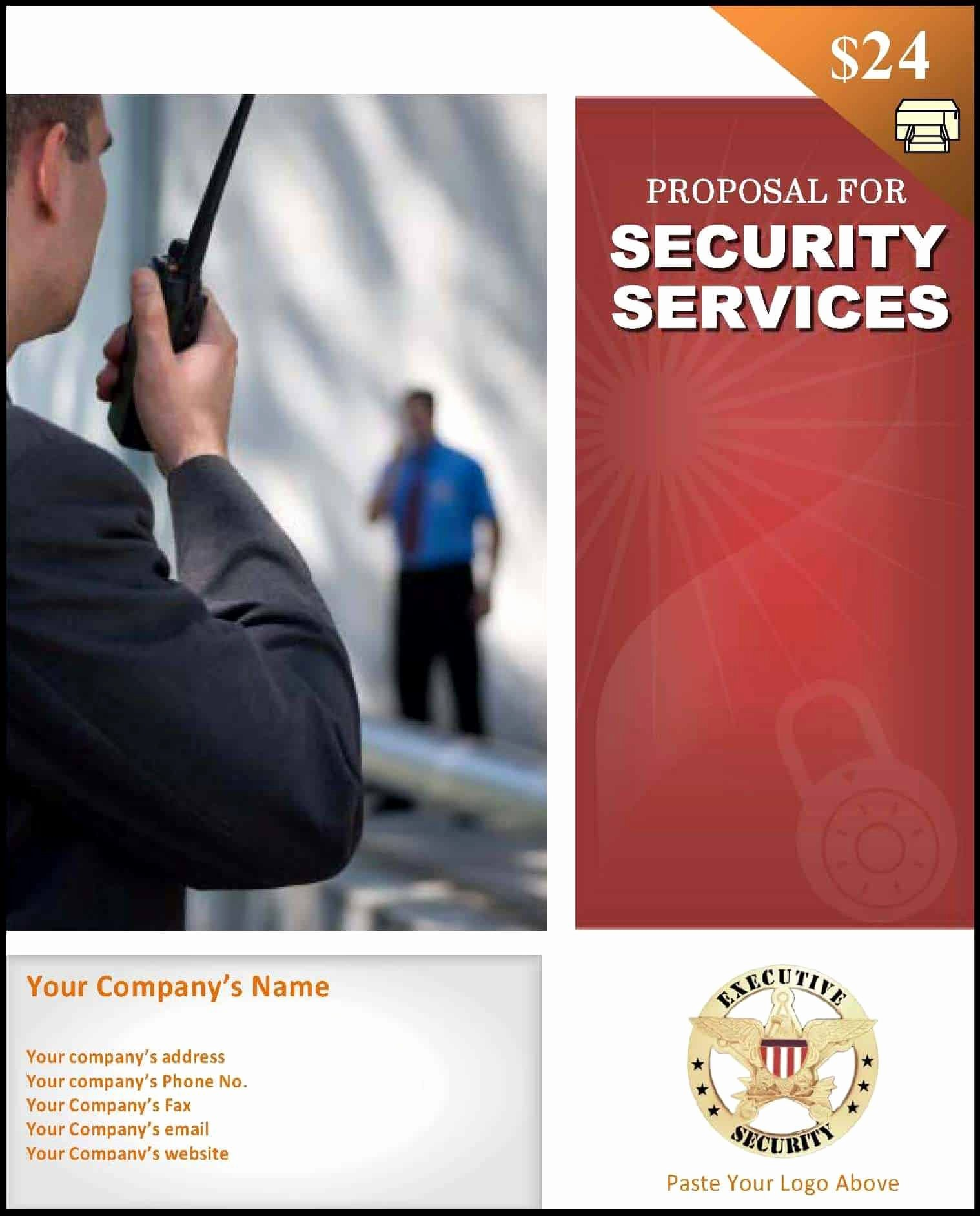 Security Guard Contracts Templates Best Of Proposal for Security Services