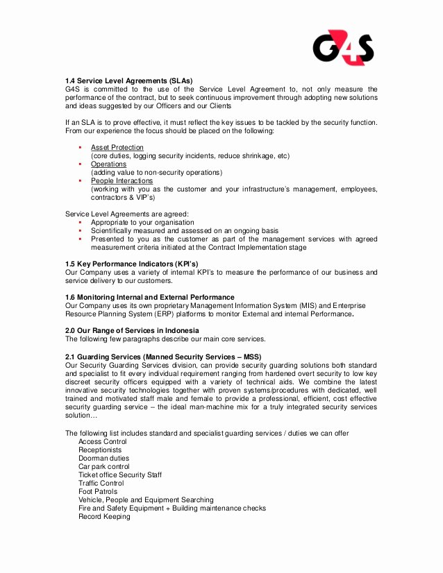 Security Guard Contracts Templates Unique Security Panys Security Pany Proposal