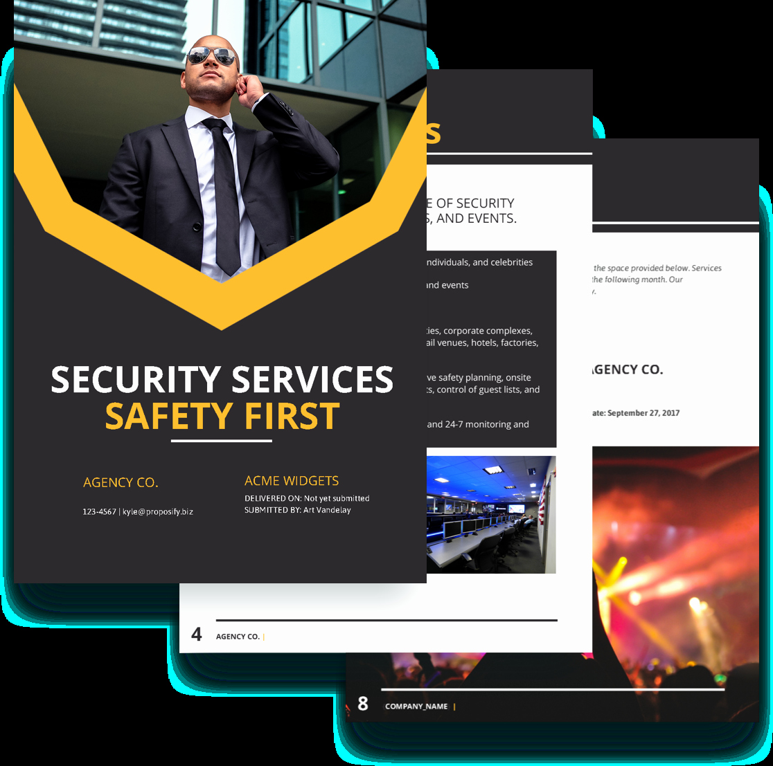 Security Guard Contracts Templates Unique Security Proposal Template Free Sample