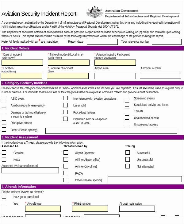 Security Incident Report Sample Elegant 10 Sample Security Incident Reports Pdf Word Pages