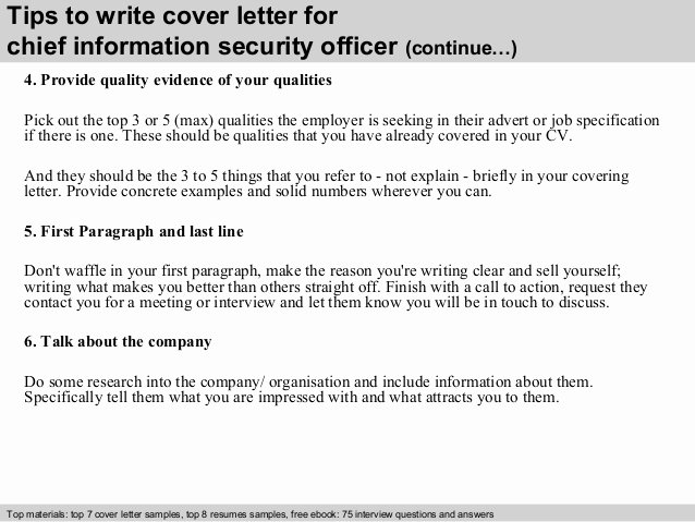 Security Officer Cover Letter Beautiful Chief Information Security Officer Cover Letter
