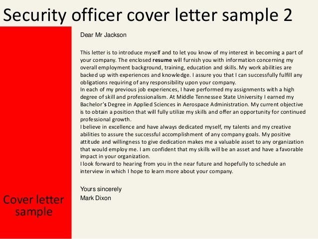 Security Officer Cover Letter Fresh Security Officer Cover Letter