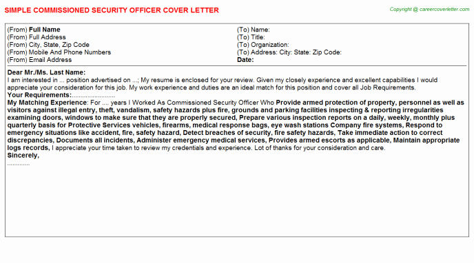 Security Officer Cover Letter Inspirational Campus Security Cover Letters