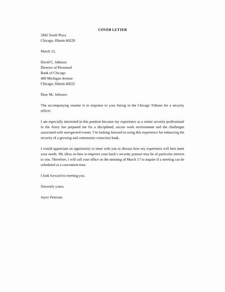 Security Officer Cover Letter Unique How to End A Cover Letter Tips & Samples
