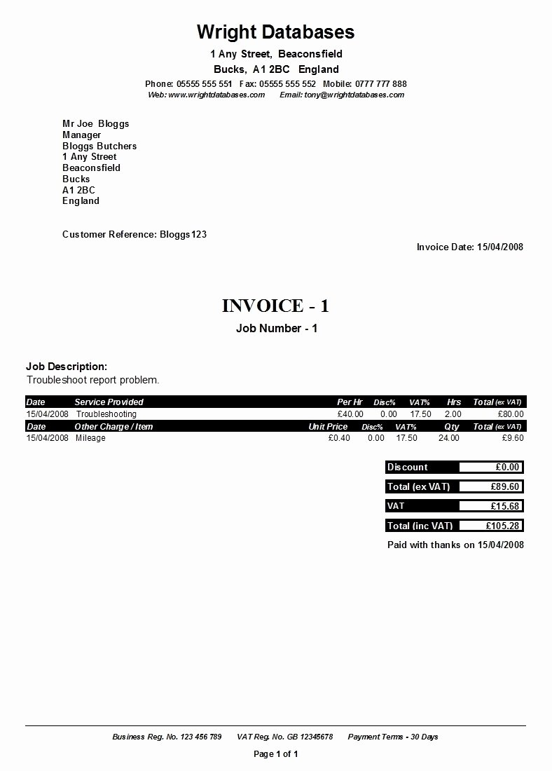 Self Employed Invoice Template Beautiful Self Employed Invoice Invoice Template Ideas