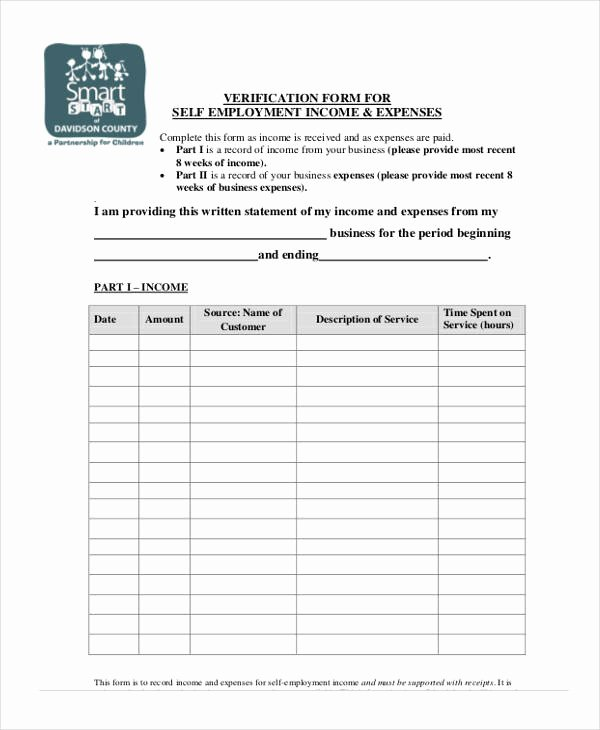 Self Employment Verification form Best Of Free 33 Verification form Templates