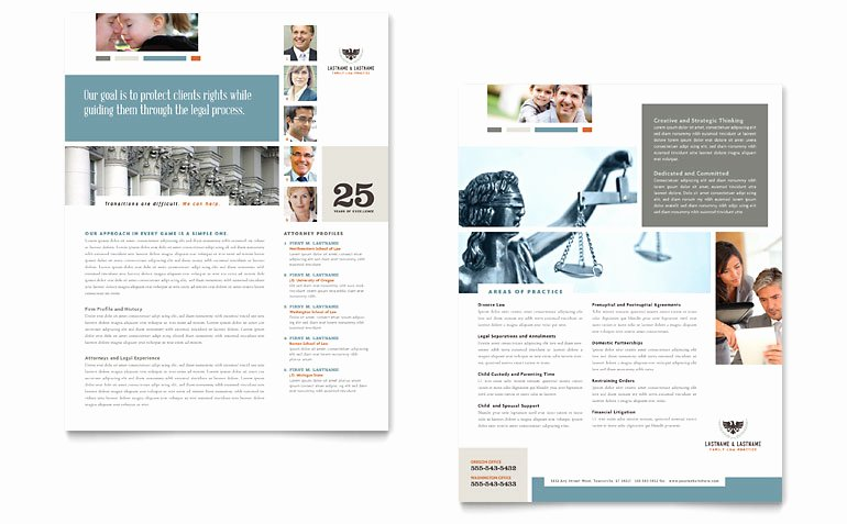 Sell Sheet Template Free Awesome Family Law attorneys Datasheet Template Word & Publisher
