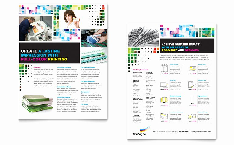 Sell Sheet Template Free Fresh Printing Pany Datasheet Template Word & Publisher