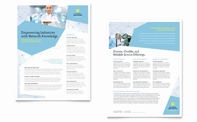 Sell Sheet Template Free Inspirational Global Network Services Datasheet Template Word & Publisher
