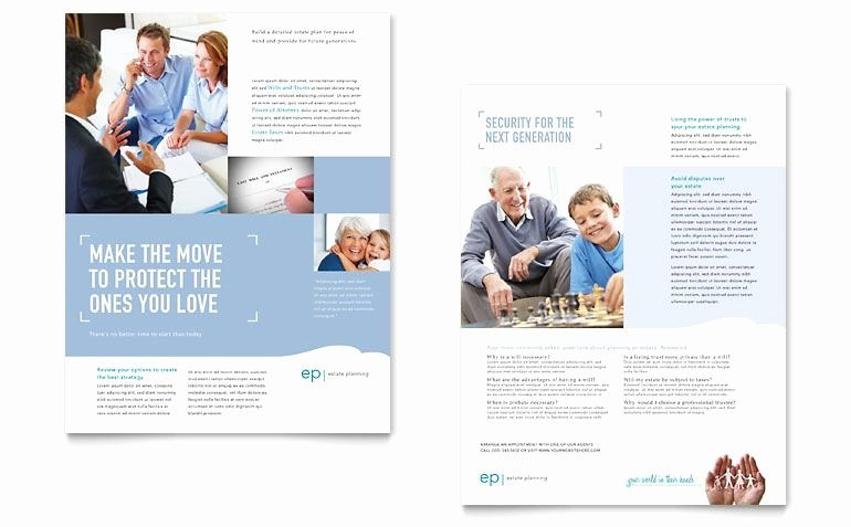 Sell Sheet Template Free New Estate Planning Datasheet Word & Publisher Template Print Design Sell Sheets