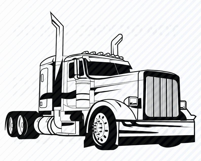 Semi Truck Logos Free Beautiful Semi Truck Svg Files for Cricut Vector Silhouette Mack