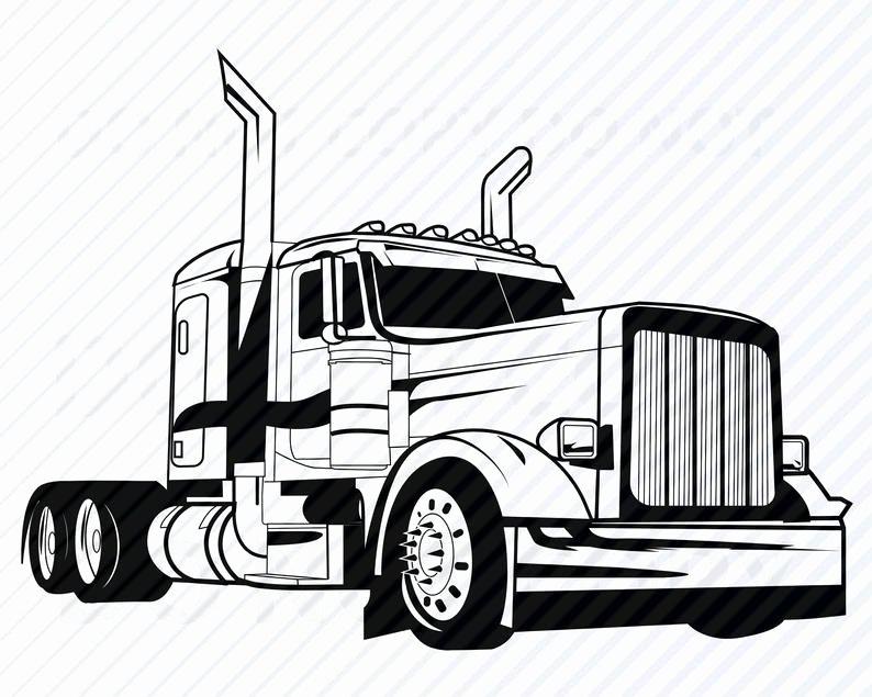 Semi Truck Logos Free Beautiful Semi Truck Svg Files for Cricut Vector Silhouette Mack
