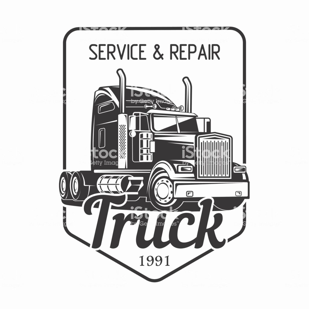 Semi Truck Logos Free Beautiful Truck Logo Service and Repair Black White Vector Illustration Stock Vector Art & More Of