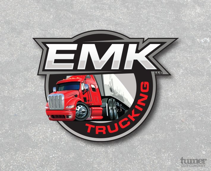 Semi Truck Logos Free Best Of Emk Trucking Logo Design – Turner Sign Co