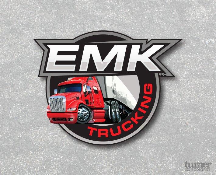 Semi Truck Logos Free Best Of Emk Trucking Logo Design – Turner Sign Co