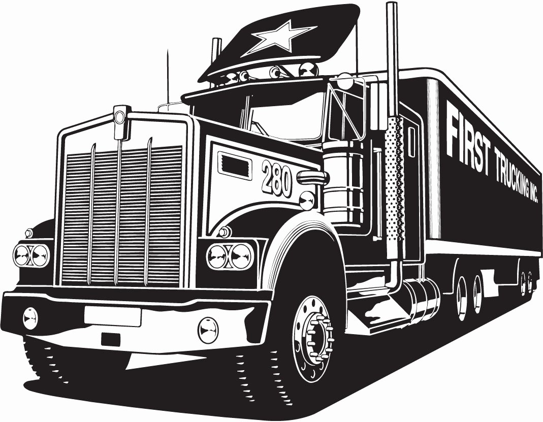 Semi Truck Logos Free Best Of Vectorian Art Truck Lineart Vectorfree Free Vector Cdr Eps Ai
