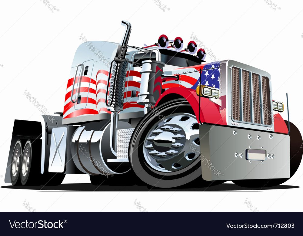 Semi Truck Logos Free Inspirational Cartoon Semi Truck Royalty Free Vector Image Vectorstock