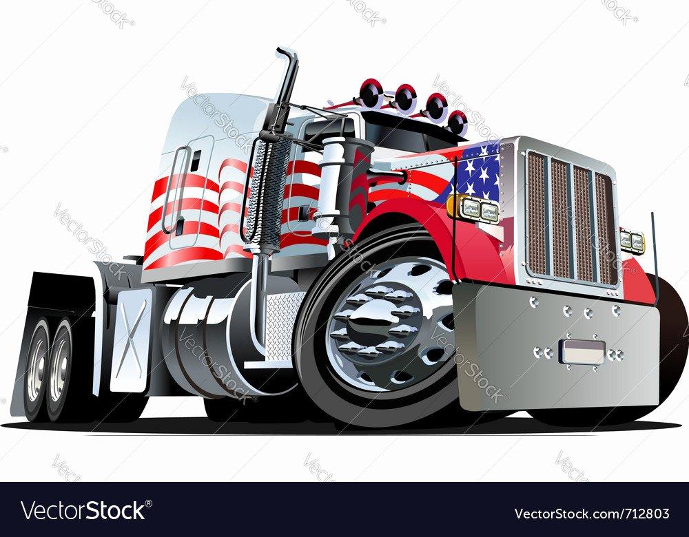 Semi Truck Logos Free Inspirational Cartoon Semi Truck Royalty Free Vector Image Vectorstock