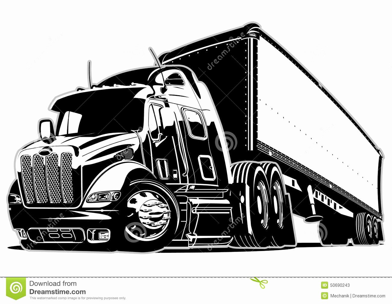 Semi Truck Logos Free Lovely Cartoon Semi Truck Stock Vector Image