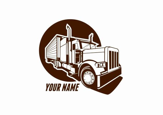 Semi Truck Logos Free Unique Truck Logo Vector