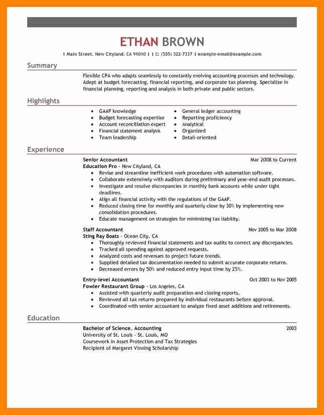 Senior Accountant Resume Sample Beautiful 7 Senior Accountant Resume