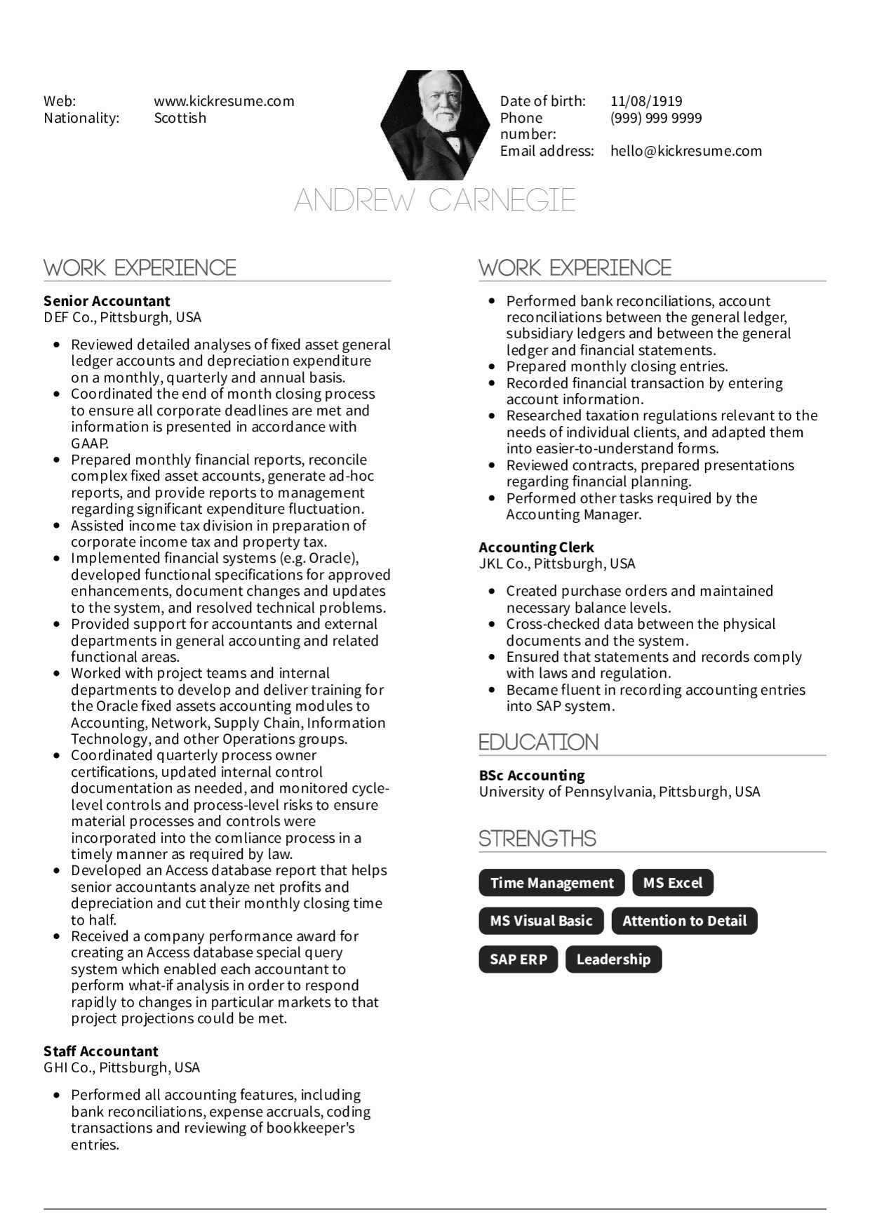 Senior Accountant Resume Sample Fresh Resume Examples by Real People Senior Accountant Resume Sample