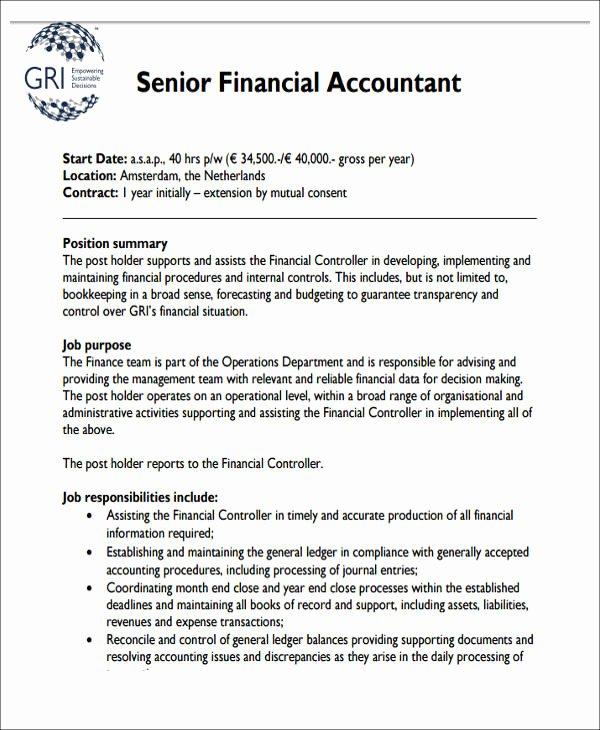 Senior Accountant Resume Sample Inspirational 28 Accountant Resume format