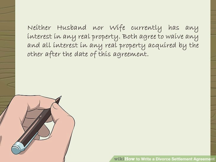 Separation Letter to Husband Best Of How to Write A Divorce Settlement Agreement with