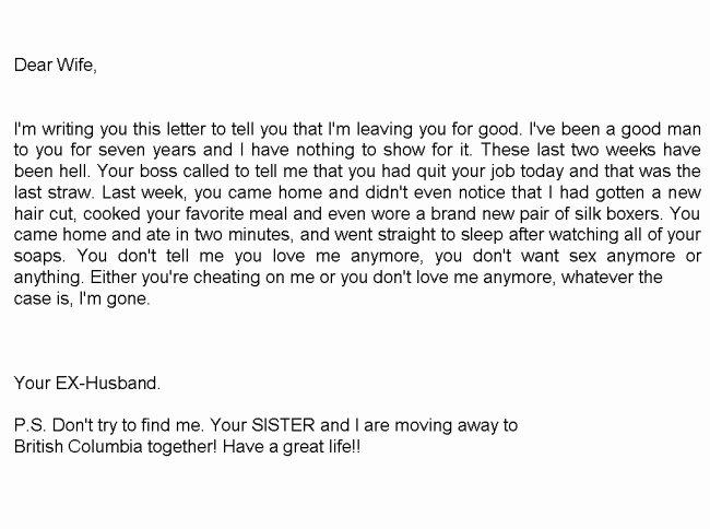 Separation Letter to Husband Elegant Divorce Letter Part 1 Picture