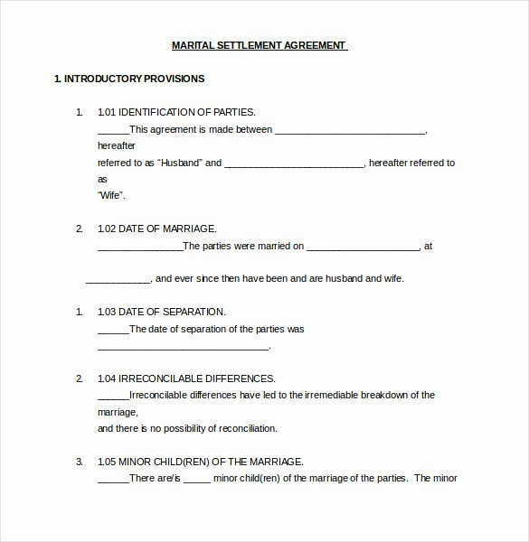 Separation Letter to Husband Luxury 12 Divorce Agreement Templates Pdf Doc