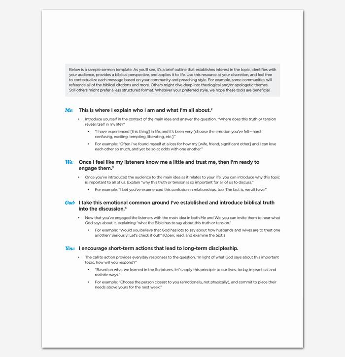 Sermon Outline Template Microsoft Word Fresh Sermon Outline Template 12 for Word and Pdf format