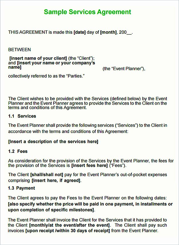 Service Agreement Template Doc Awesome Service Contract Template and Important Terms to Write