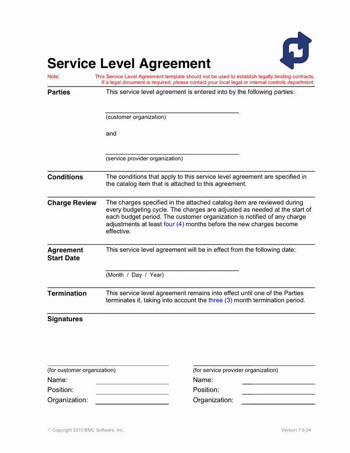 Service Agreement Template Doc Beautiful Service Level Agreement Template In Word and Pdf formats