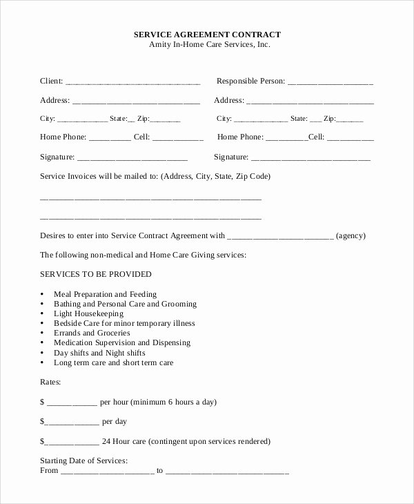 Service Agreement Template Doc Best Of Sample Service Contract 20 Examples In Pdf Word Google Docs