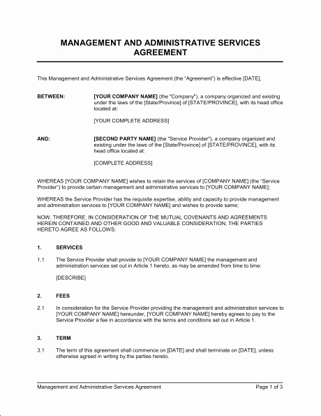 Service Agreement Template Doc Elegant Agreement Templates