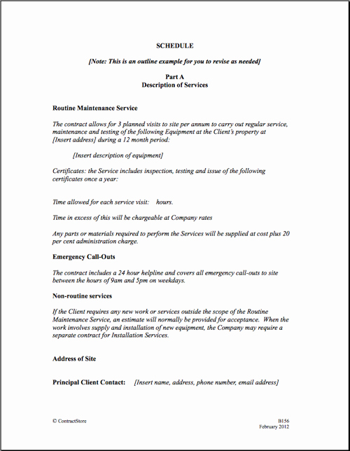 Service Agreement Template Doc Lovely Maintenance Contract Agreement Free Printable Documents