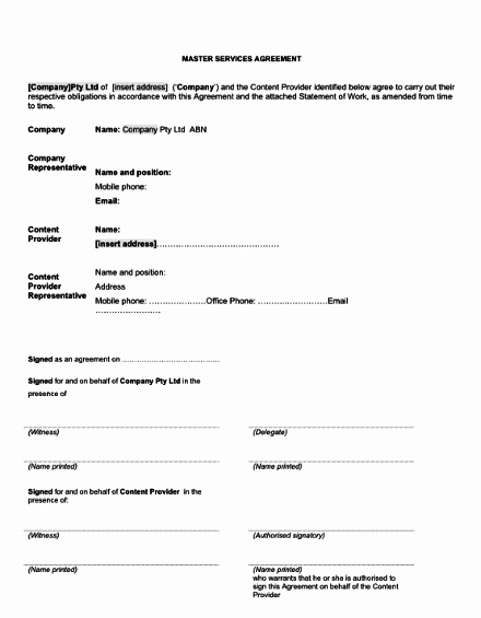 Service Agreement Template Doc New Saas Agreement Template