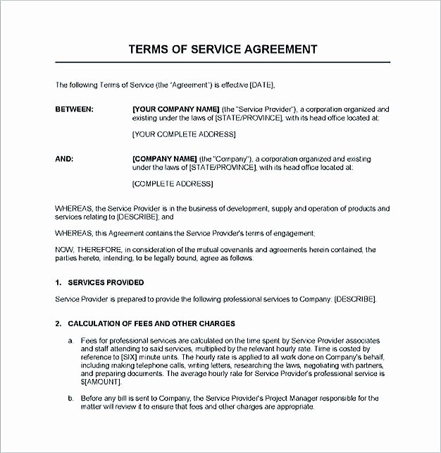 Service Contract Template Doc Beautiful Service Contract Template and Important Terms to Write Service Contract Template is A